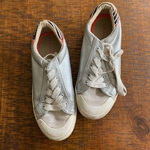 Zara metallic sneakers